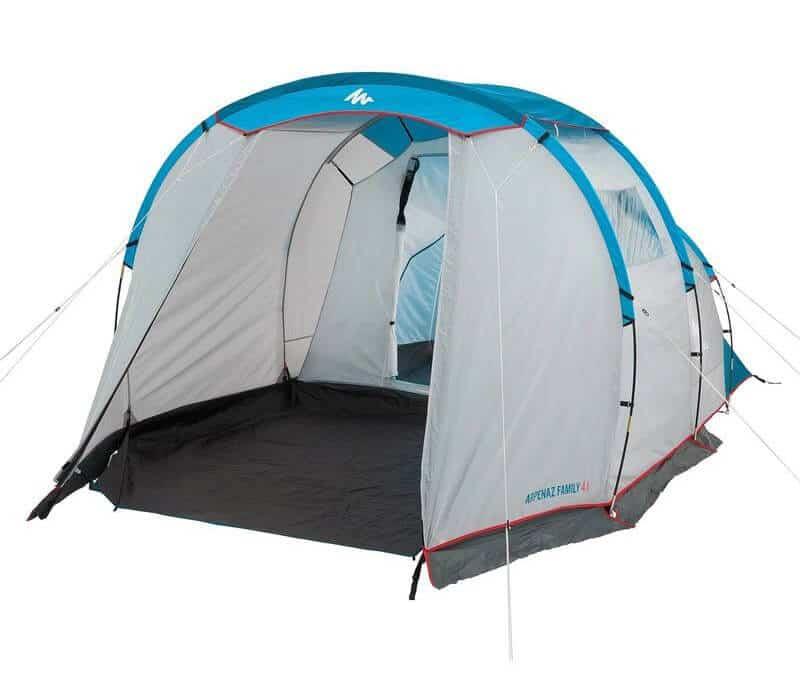 Прокат четырёхместной палатки с большим тамбуром Arpenaz Family 4.1